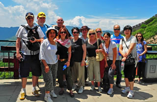 Group Photo on the Badaling Great Wall